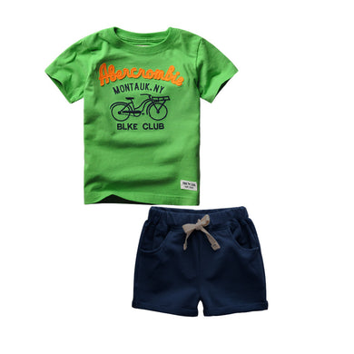 2-6 Years Boys 100% Cotton Cartoon T-shirts And Shorts sets