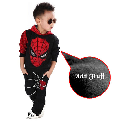 ,Kids Sport Spiderman sets/ Sweater+Pants 2pcs