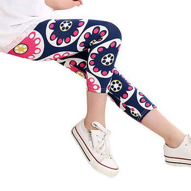 Multi Color Girls  Flower leggings toddler and pre-teen