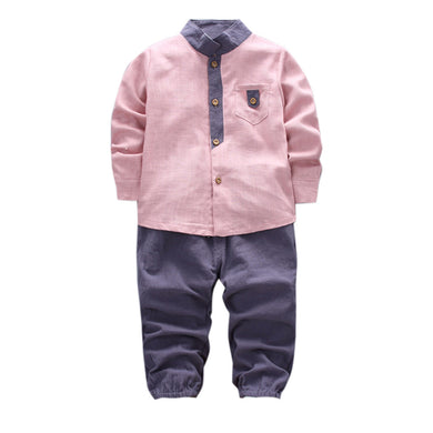 2pcs Toddler/ Baby Boys Shirt +Long Pants