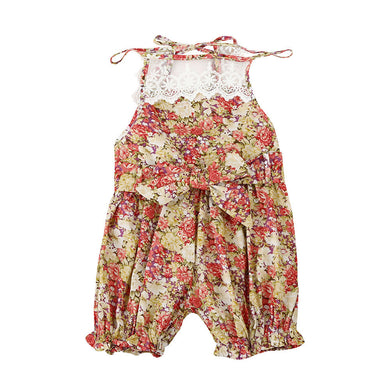 Baby Girl Floral Lace Romper