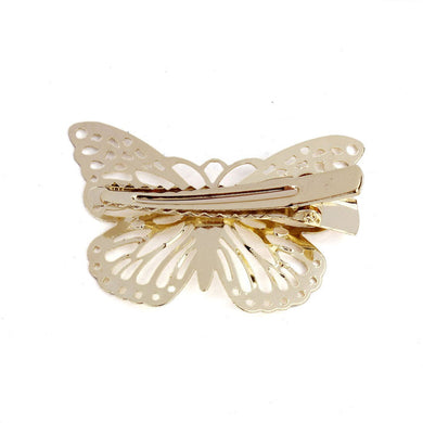Shiny Golden Butterfly Hair Clip Headband Hair Accessories