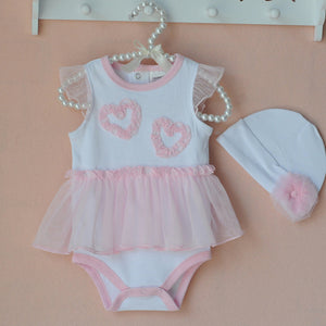2-Piece Suit: Flowers Headband + Polka Dot Dress/  baby girls clothing sets For 6-24
