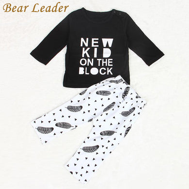 Cotton Letter Printed Long Sleeve T-Shirt+Pants Suit Baby Girl/boy Clothing Sets
