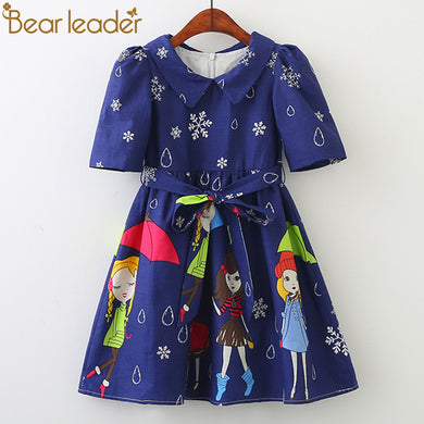 Umbrella Girl Rain Point/ Snow Design Girls Dresses For 3-8 Years