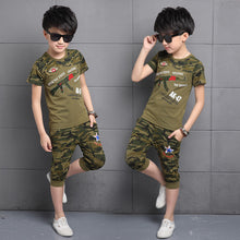 Camouflage Clothing Sets For Boys T-Shirts & Shorts 2Pcs 6 8 10 12 14 Years
