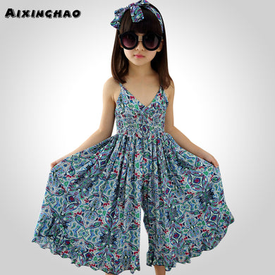 Sundress Floral Printed Beach Dress Girls For 8 10 12 14  Teen Clothes