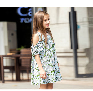 Teenagers Dress Off-shoulder Chiffon Dress