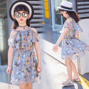 girl dress butterfly clothes size 3 4 5 6 7 8 9 10 11 12 years