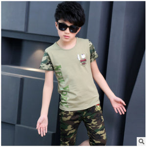 new summer children's cotton casual T-shirtwith shorts
