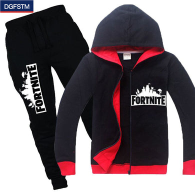 2018 New Fortnite sweatshirt and pants/  hoody Set  6 10 12 Years