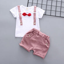 Toddler baby sets / sports shirt and bow tie with cute shorts