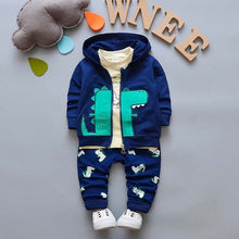 Boys Hoodie Jacket+Tshirt+Pants 3PCS set