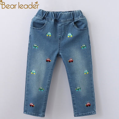 Cars& Letters  Embroidery Children  Jeans For 3-7 Years