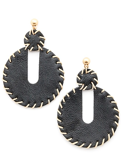 Faux Leather Dangling drop Earrings