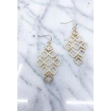 Multi Quatrefoil Drop Earrings - Luvxury