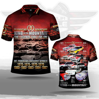 AUSTRALIA MUSCLE CAR (AMC) 9 WINS KING OF THE MOUNTAIN POLO SHIRT! CELEBRATING 9 BATHURST WINS! - Nextra Peninsula Fair News