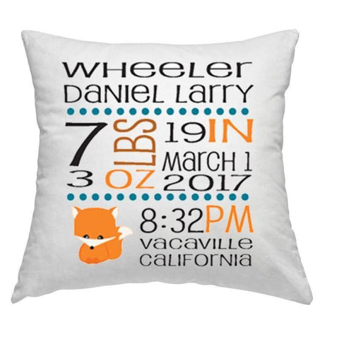 Birth Stats Announcement Pillow