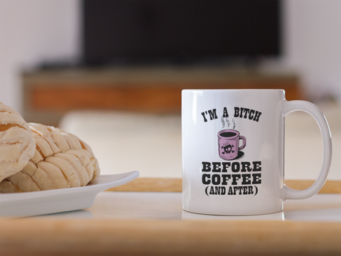 Coffee Mug, before and after.