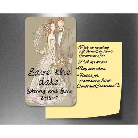 Save the Date Magnet - Save the Date Rustic - Save the Date Wedding - Personalized Save the Date - Custom Save the Date - Magnets Wedding