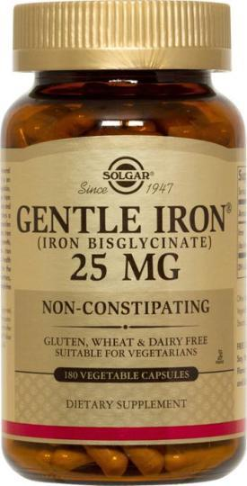 Solgar Gentle Iron 25 MG (90 Vegetable Capsules)