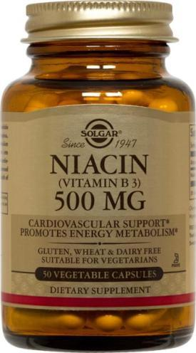 Solgar Niacin 500 MG (100 Vegetable Capsules)