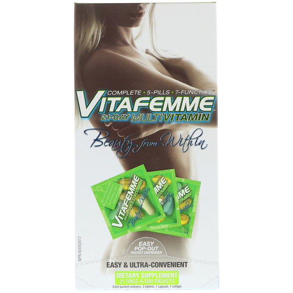 FEMME, Vitafemme, 21-Day Women's Multivitamin - 21 Packets