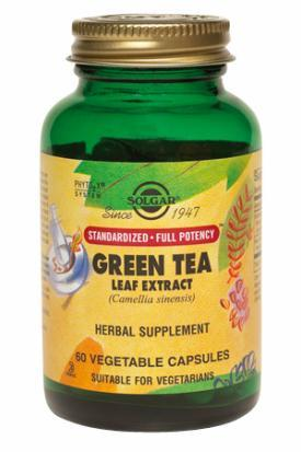 Solgar Green Tea Leaf Extract (60 Vegetable Capsules)