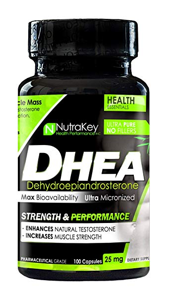 Nutrakey DHEA 25mg, 100 Ct