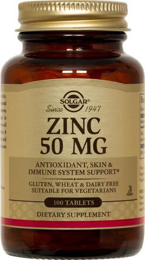 Solgar Zinc 50 Mg (100 Tablets)