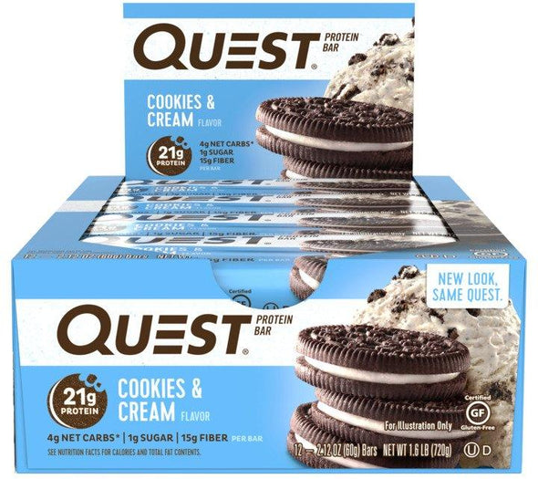 Quest Bars Cookies and Cream (Box of 12)