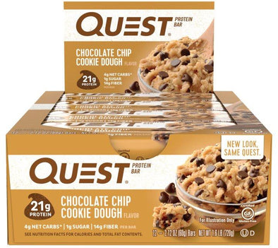 Quest Bar Chocolate Chip Cookie Dough (Box of 12)