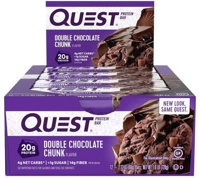 Quest Bar Double Chocolate Chunk (Box of 12)