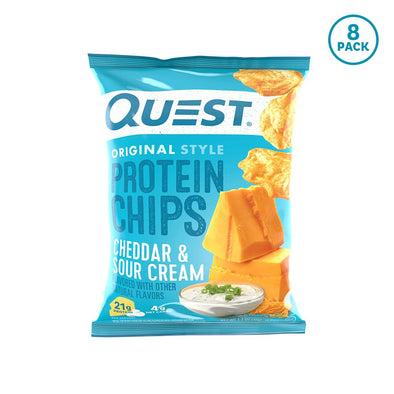 QUEST PROTEIN CHIPS CHEDDAR & SOUR CREAM (8 Count)