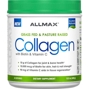 ALLMAX - Grass Fed & Pasture Raised with Biotin & Vitamin C