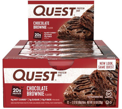 Quest Bar Chocolate Brownie (Box of 12)