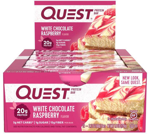 Quest Bar White Chocolate Raspberry (Box of 12)
