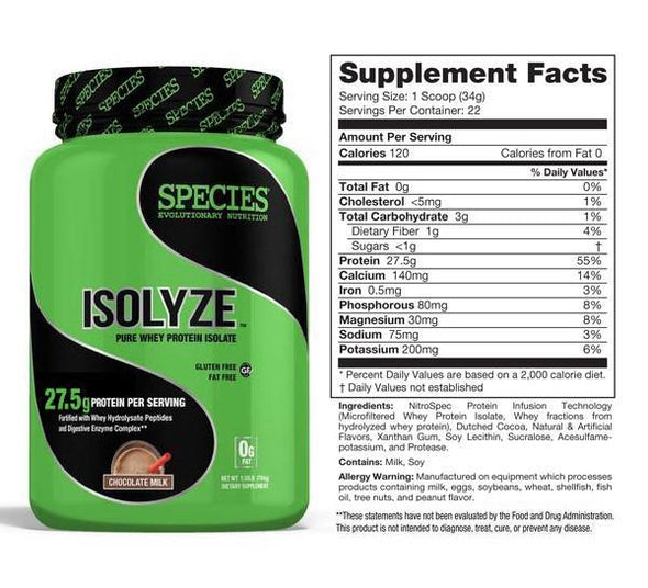 ISOLYZE: 100% PURE WHEY PROTEIN ISOLATE