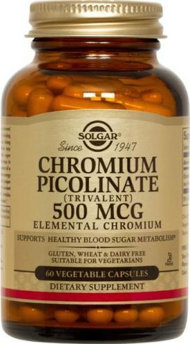 Solgar Chromium Picolinate 500 MCG (120 Vegetable Capsules)