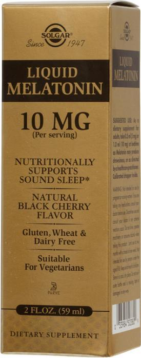 Solgar Liquid Melatonin 10 mg Natural Black Cherry (2 fl oz)