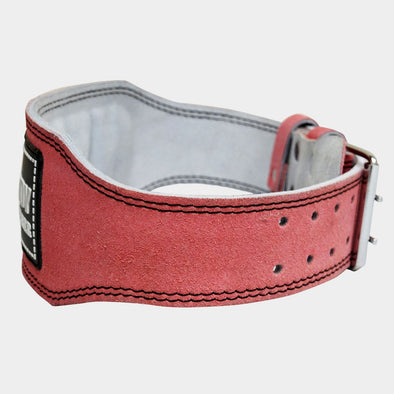 Pink Weight Lifting Belt – Suede