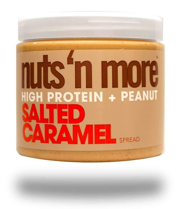 NUTS N' MORE SALTED CARAMEL HIGH PROTEIN PEANUT SPREAD
