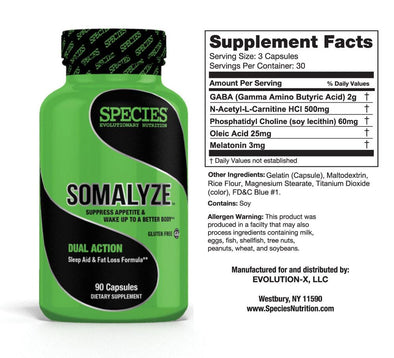 SOMALYZE: SUPPRESS APPETITE & PROMOTE NIGHTTIME FAT LOSS**