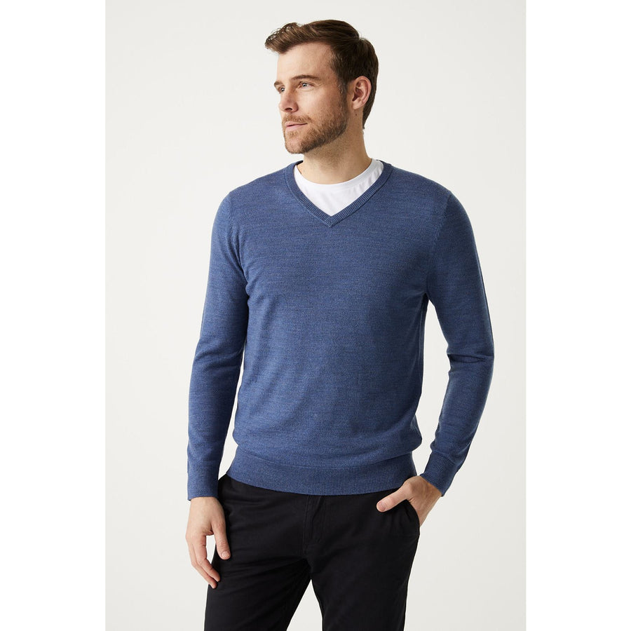 TOORALLIE FINE V NECK WOOLSTATION - CLOTHING TOORALLIE