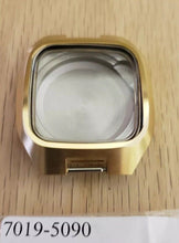 Load image into Gallery viewer, New ! Vintage Seiko Case & Crown 7019-5090 Monaco Square Watch automatic Gold