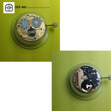 ETA 255 481 Dual Day/ Date / Month / Moon Quartz Watch Movement. Swiss made