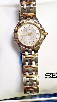 New ! Lady Seiko Watch Quartz Day 7N82- 0789 with Box / Warranty SXE 694