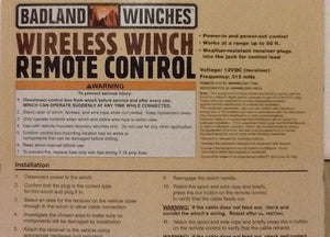 Wireless Winch Remote Control Badlands Winches In-Out Switch (Five Prongs  male)