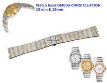 Load image into Gallery viewer, NEW ! For Watch Omega Constellation Two Tone Bracelet Deployment 18 mm & 25mm