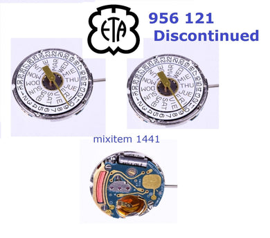 NEW ! Discontinued ETA 956.121 Quartz Watch Movement Day/Date Swiss Made.